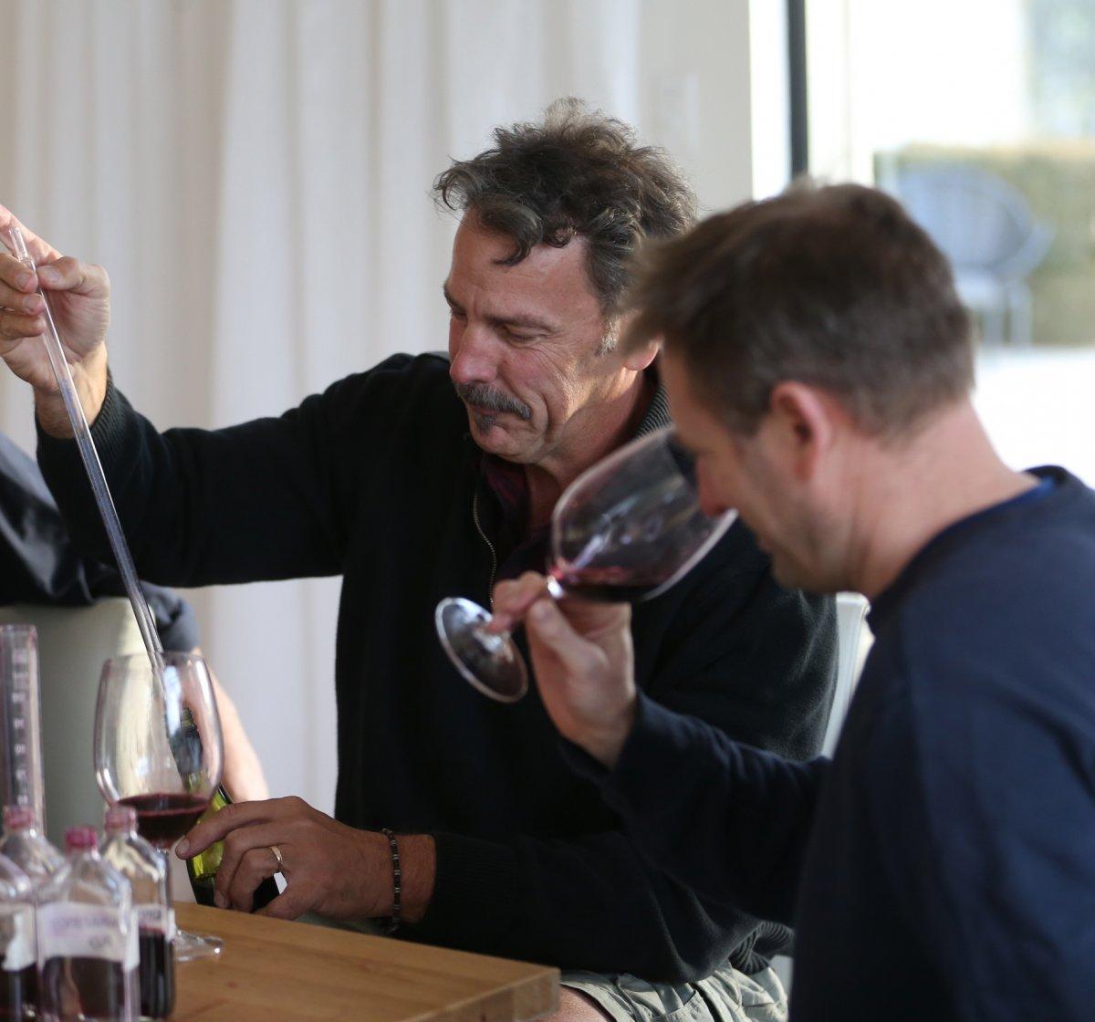 Winemakers wine tasting