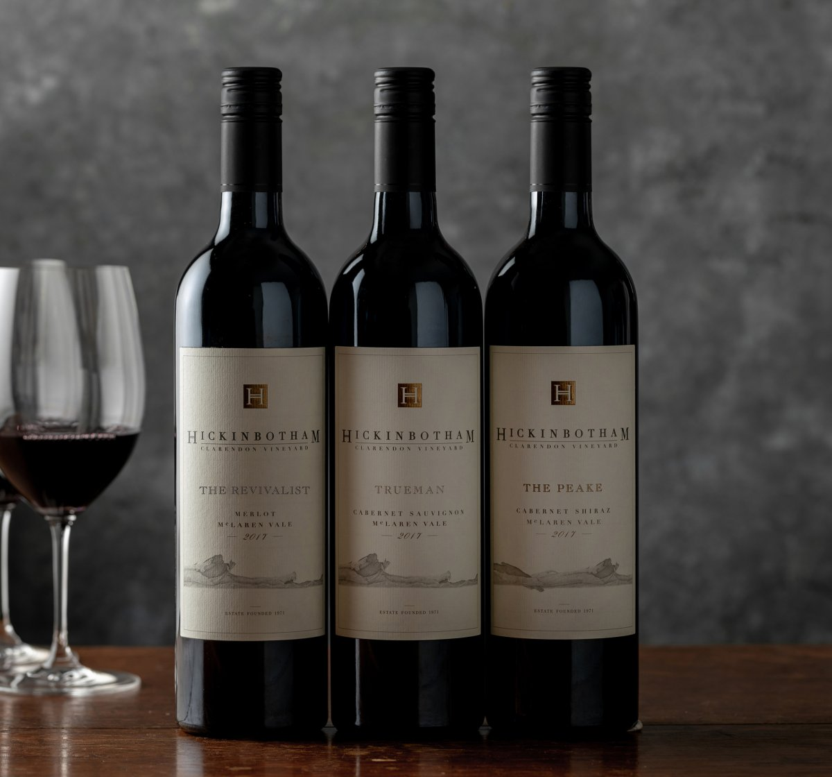 Hickinbotham Three Wines Beauty Shot