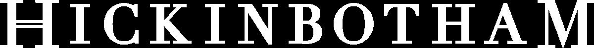 Hickinbotham logo in white